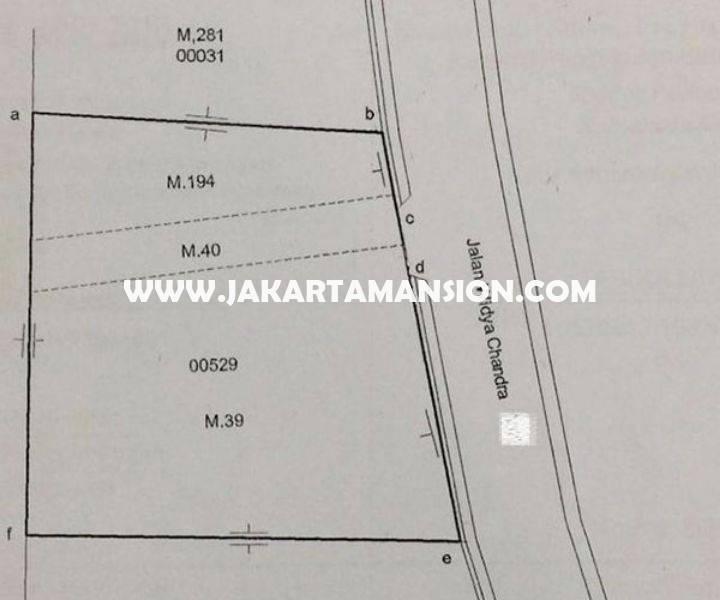HS1032 Rumah 4 lantai Jalan Widya Chandra at SCBD Senopati Kebayoran Baru Dijual Murah