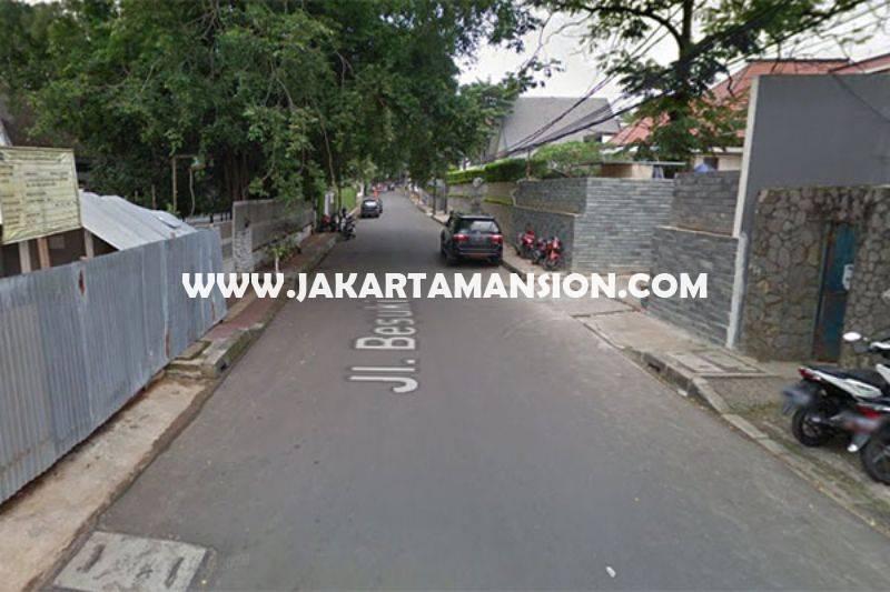 HS1087 Rumah jalan Besuki Menteng Dijual Murah dekat Taman bentuk Kotak