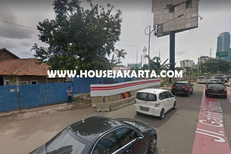 LS1208 Tanah Jalan Gatot Subroto Jakarta Selatan Dijual Murah Luas 1,4 hektar bisa 3 tower ijin 60 Lantai