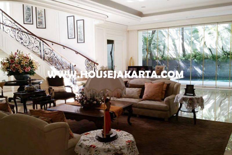 HS1250 Rumah Elite Mewah Jalan Imam Bonjol Menteng Dijual Murah Tanah Kotak ada Pool