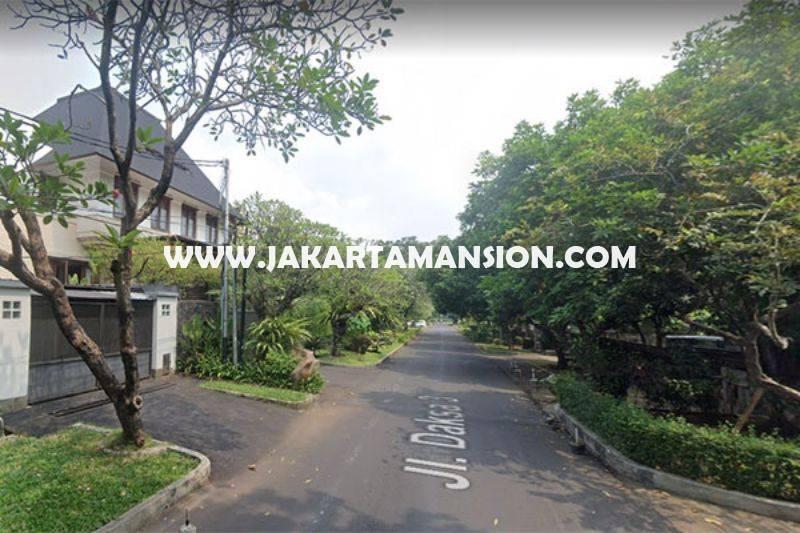 HS1325 Rumah Lama Jalan Daksa Senopati Kebayoran Baru dekat SCBD Sudirman Dijual Murah