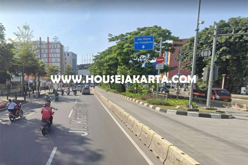 LS1398 Tanah Komersial Jalan Kramat Raya Jakarta Pusat ijin 8 Lantai Dijual Murah 40 juta/m