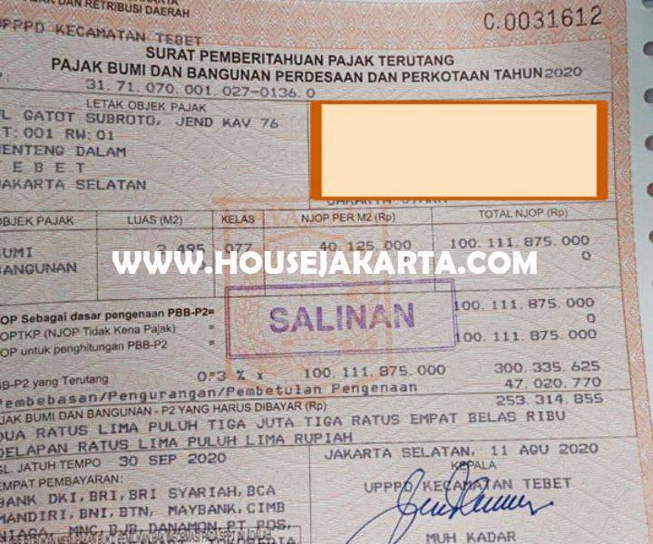 CS1416 Tanah Komersial Jalan Gatot Subroto Pancoran Dijual murah 60juta/m Bisa untuk Gedung Kantor 24 lantai
