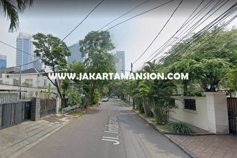 HS1459 Rumah Jalan Indramayu Menteng Dijual Tanah Persegi daerah Elite jarang ada
