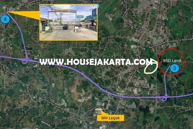 LS1478 Tanah 32 hektar Jalan Jatake Raya dekat babakan BSD Tangerang Dijual Murah 1,6 juta/m