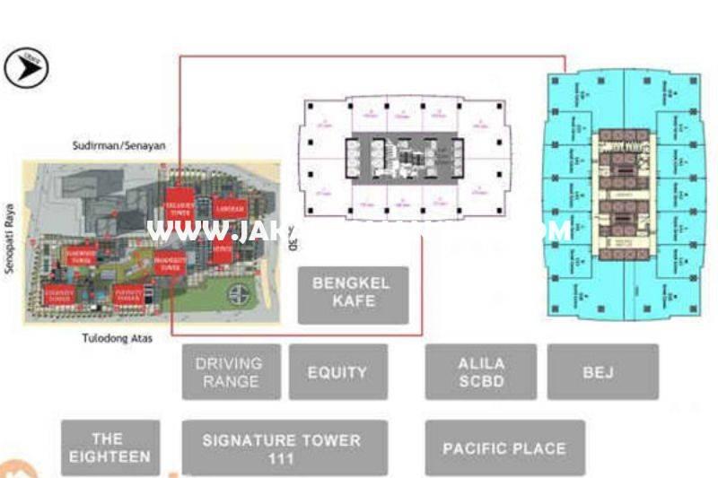 OS822 Tower Treasury Office 8 at Senopati SCBD Sudirman Dijual Murah 1 lantai luas 2.722m