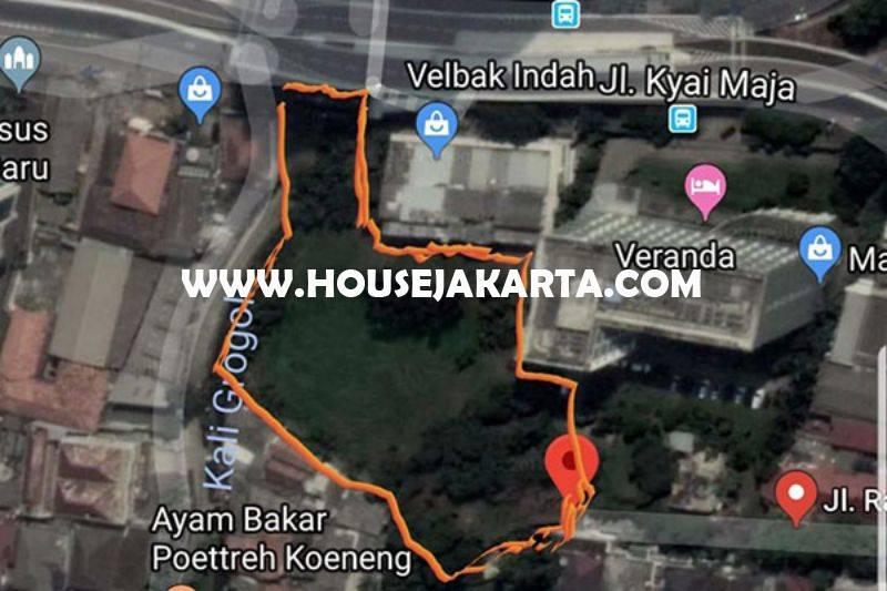 LS1041 Tanah Luas 5.300m Jalan Kyai Madja Kebayoran Baru dekat Pakubuwono Dijual Bisa dibangun Gedung