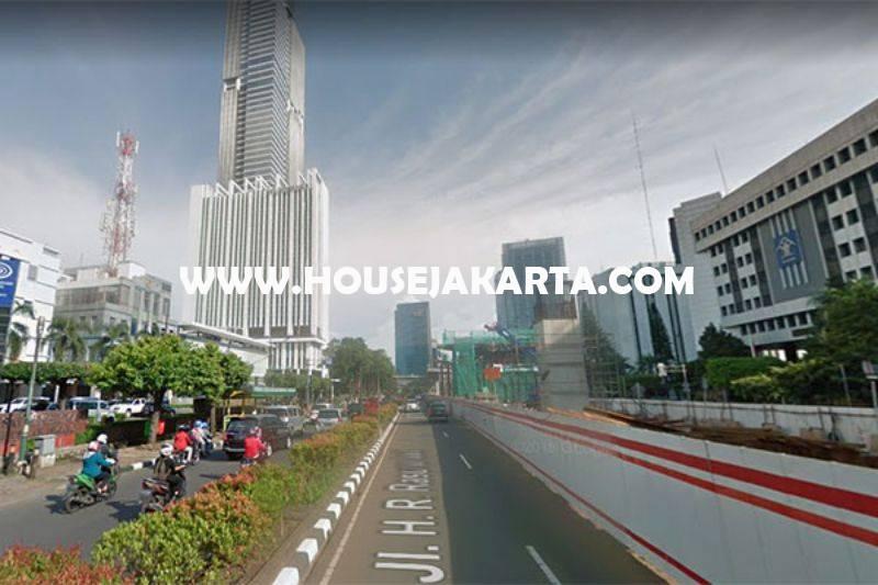 LS1212 Tanah Jalan HR Rasuna Said Kuningan Luas 8000m Dijual ijin Komersial Gedung Office Apartement 30 Lantai