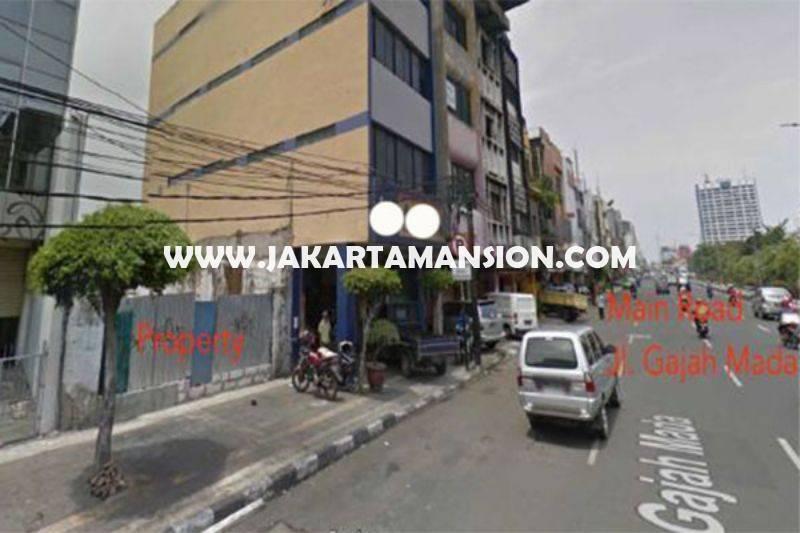 LS1218 Tanah Komersial Jalan Gajah Mada Harmoni Taman Sari Dijual Murah ijin gedung 16 lantai
