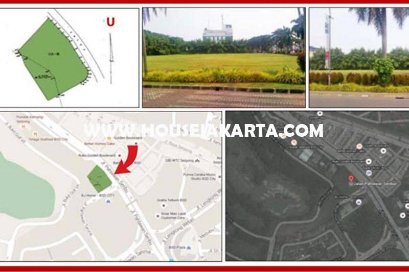 LS1244 Tanah Komersial jalan Pahlawan Seribu Sektor VIA BSD City luas 8.274m Dijual Murah