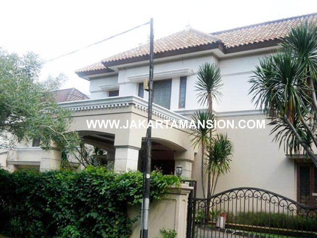 HS643 Rumah Jalan Dharmawangsa dekat Brawijaya Kebayoran Baru Dijual Murah