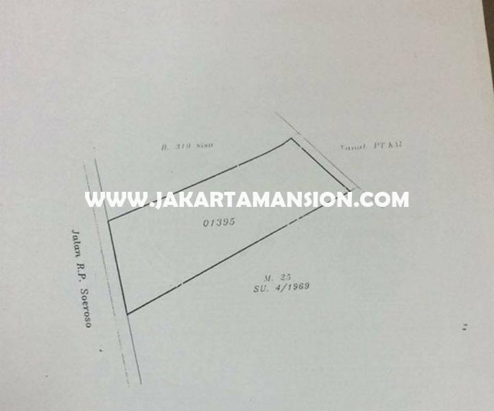 CS920 Dijual Murah Gedung 4 Lantai jalan Raya RP Soeroso Menteng tanah Kotak